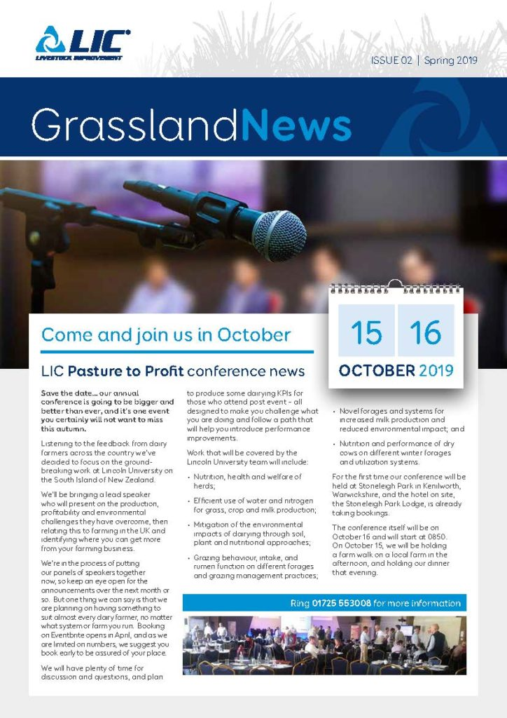 Cover image of Grassland News, Issue 02 | Spring 2019